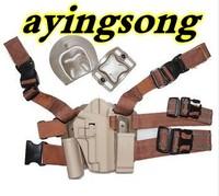 New type P226 tactical puttee thigh belt drop Leg holster pouch Pistol sand