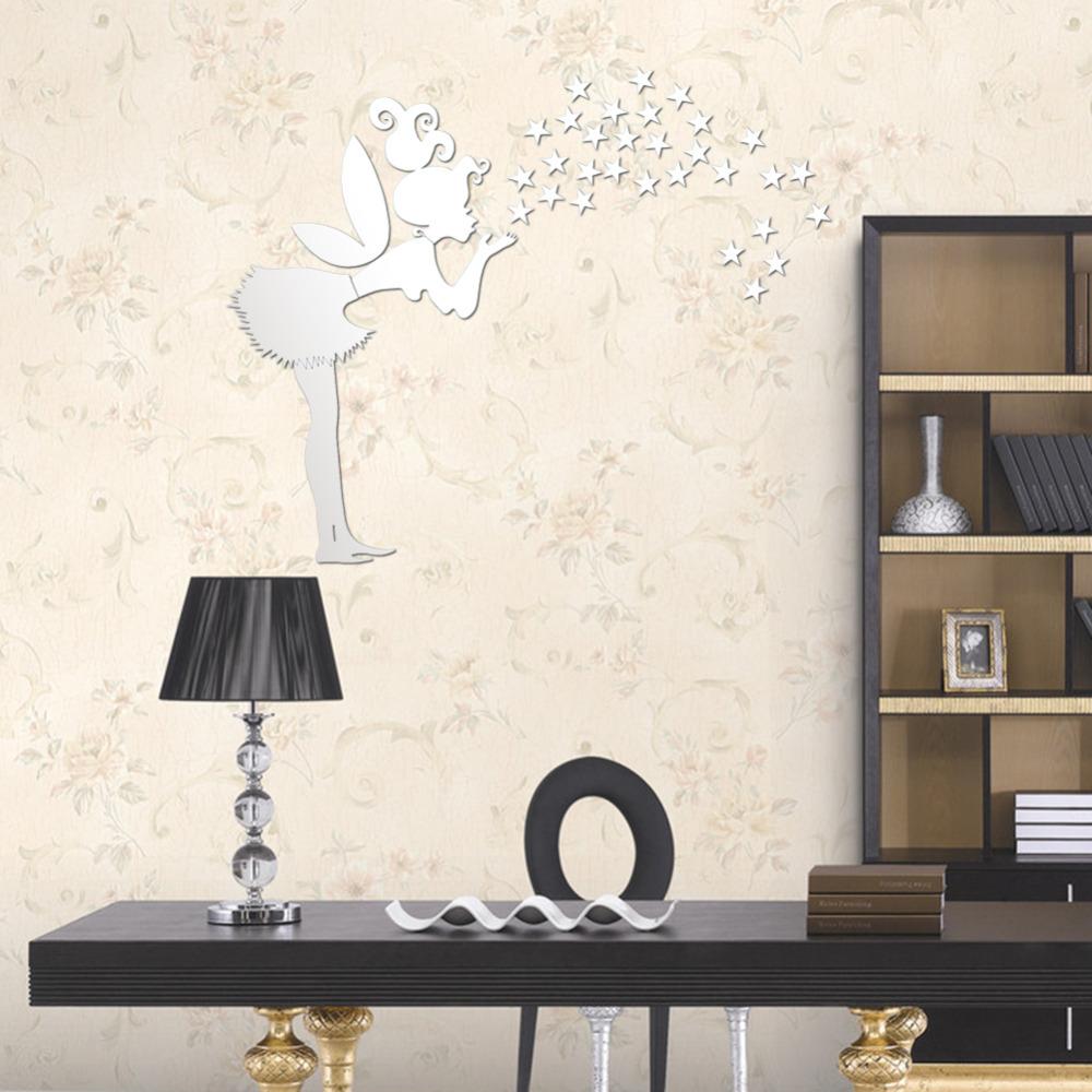 Nieuwe gratis verzending home decor kinderkamer decoratie 3d spiegel