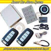 keyless car alarm system is with 2pcs smart keys,hopping code protection.,auto central lock or unlock car door,shock  alarm