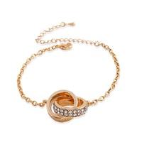 Hot Korean Jewelry Crystal Bracelet Sterling Silver Bracelets & Bangles for Women Gold Bracelets ML-358