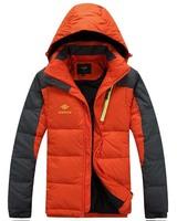 free shipping men's down jacket , 2014 down parka white duck down jacket 190