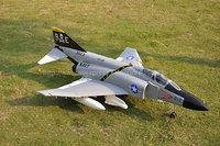 RTF Gray Version  /  RC F-4J jet plane /  70mm EDF  RTF  JET plane /  Ready To Fly