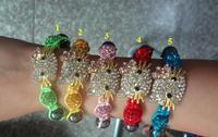 new jewelry sets wholesale DHL/EMS Free Shipping Gray white micro pave cz Disco Beads Crystal Women Men Shamballa Bracelet