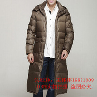 free shipping New winter clothing mens long down coat thick extra long extra large extra long hooded slim warm overcoat 350