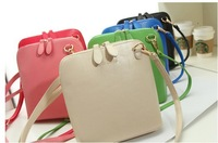 2014 NEW ARRIVAL Free Shipping Women Candy-colored Shell Bag Shoulder Bag Messenger Bag Handbag Clutch Cross Body Casual Bag