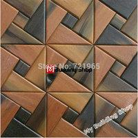Natural wood parquet mosaic wall tiles NWMT116 wooden mosaic TV background wood tiles backsplash mosaic panel