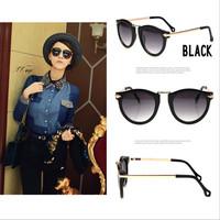 2014 New Metal Arrow Style Decoration Sunglass Fashion Women Sun glasses Retro Round Eyeglasses Sunglasses Oculos De Sol Shades