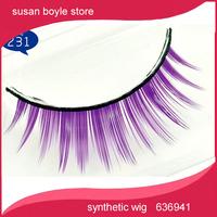 Omelaiya Princess series of false eyelashes and big eyes colored eyelashes (purple) handmade freeshipping