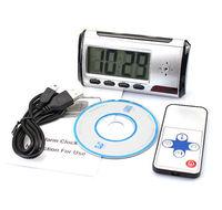 Free shipping digital clock hidden camera mini DV DVR USB motion alarm digital camera mini camcorders 10pcs/lot