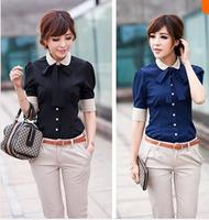 Career shirt send tie 2014 new Promotions hot trendy cozy women clothes plus size Casual shirt Korean Slim shirt A41