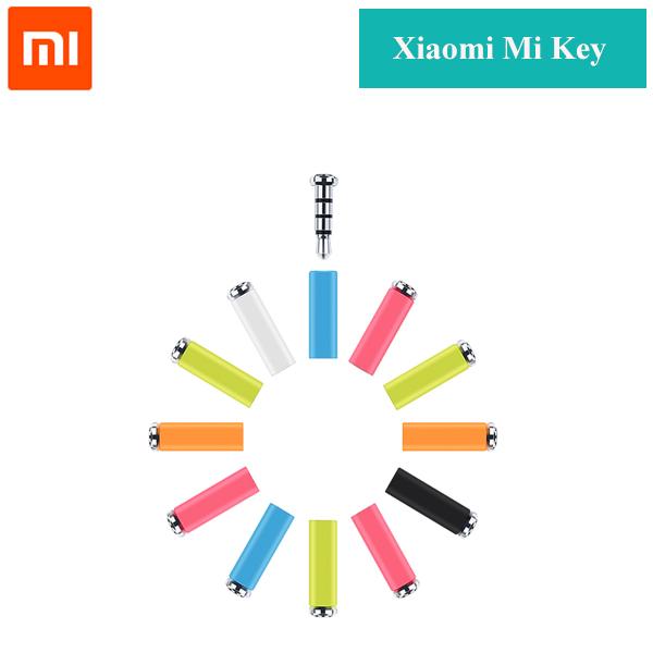 Original Xiaomi Mikey Mi Key Smart quick button one click auxilary button gadget button 3.5mm Earphone Jack dust Plug MultiColor(China (Mainland))