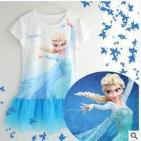Girls Nightgown Summer Frozen Pajamas Nightgowns Kids Pajamas Cartoon nightgown children girl frozen elsa princess nightgowns A