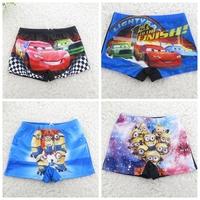 Minions,Despicable Me,Cars,Spiderman trunks,new 2014,boys swimwear, kids trunks,kids short pants,beach wear,children clothing