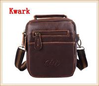 2014 European American Style Male Designed Messenger Bag Genuine Leather Retro Shoulder Bag Small Bag Multi-function Waist Pack