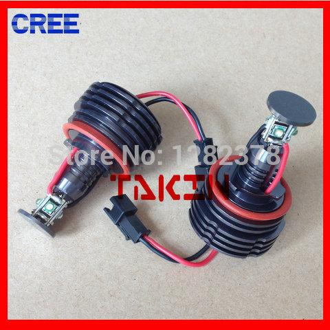 Error free ! CREE H8 X5 20W led headlight auto led angel eyes halogen lamp model H8(China (Mainland))