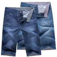 2014 Summer Men's Jeans Shorts Men Jeans Shorts Large Plus Size [28-38] Blue Denim Shorts For Men Bermuda Masculina Jeans
