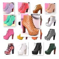 17 Styles Size35-40 sapatos femininos Brand Imitation Women High Heels Motorcycle Ankle Boots botas