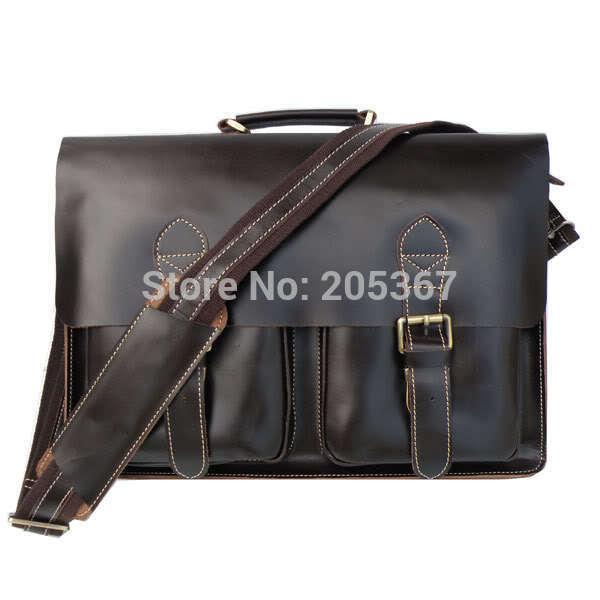 J.M.D Rare 100% Genuine Vintage Wholesale Leather Handbagsmessenger Bags for Men Leather Briefcase 5PCS/LOT#7105C(China (Mainland))