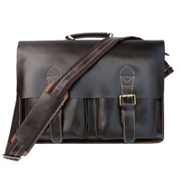 J.M.D Rare 100% Genuine Vintage Wholesale Leather Handbagsmessenger Bags for Men Leather  Briefcase 5PCS/LOT#7105C