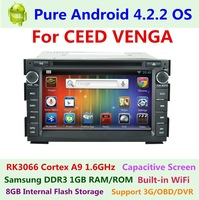 Pure Android 4.2.2 Car DVD Player for KIA CEED Venga 2008 2009 2010 2011 Capacitive Dual Core 1.6 GHz GPS navi 3G WIFI Radio