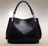 Crocodile luxury Women Handbag shoulder desigual  brand new fashion female  leather shoulder bags messenger Bolsas black  A02