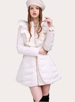 free shipping women fashion down jacket ,long length women coat down parka slim fit overcoat 499