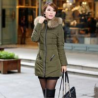 free shippig women's parkas , causal coat winter women jacket duck down jacket fur collar down parka 198