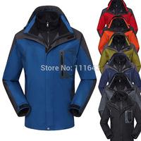 S-2XL 7 Colors Men winter Outdoor jacket Climbing clothes Leisure two-piece men sports coat waterproof men's skiing jacket