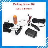 Free Shipping Car LED Parking Sensor Kit 4 Sensors 22mm Backlight Display Reverse Backup Radar Monitor System 12V 7 Colors