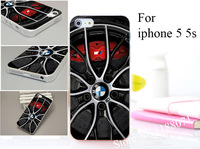 For bmw sport car wheels Hard Transparent Case Cover for iphone 5 5s 5g 5th 10PCS/lot Not Package+Free shipping
