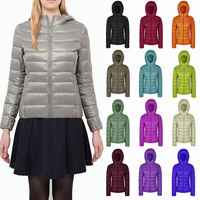 Ultra Light Down Jacket Hooded 90% White Duck Down Jacket Women Regular Length Portable Down Jacket Plus Size S-XXXL 8 Colors