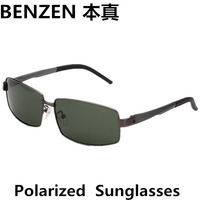 2014  Men Polarized  Sun Glasses Metal Mens Sunglasses Oculos Men's Outdoor Sports Eyewear  With Case Black 2090B