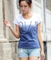 2014 Plus Size Clothing Summer Fashion Basic Slim Female T-Shirt Short-Sleeve Cotton Tops