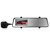Allwinner 6000A Car DVR With GPS Logger Mirror Camera Recorder DVR Dual Lens 4.3' TFT LCD HD 1920x1080p 720P with G-sensor SS112