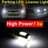 2x High Power T10 7.5W LED 12V W5W 194 168 Parking Led Signal Tail Turn Light License Plate Bulb Backup Reverse Light Bulb White