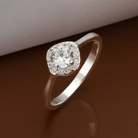 Wholesale 925 Silver Ring 925 Silver Fashion Jewelry,Austria Crystal Fashion Ring Best Service SMTR329
