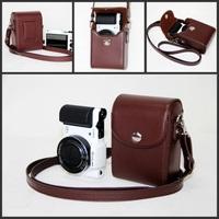 Leather Camera Case Bag Cover For Samsung WB800F WB201F WB200F WB280F WB150/F   + Free shipping