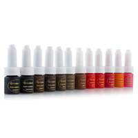 Golden Rose 6pcs/lot Colors U-pick Professional Permanent Makeup Pigment Cosmetic Tattoo Ink Kit 10ml/bottle