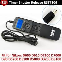 RST7106 Digital Timing/Timer Remote Controller Shutter Release for Nikon D600 D610 D7100 D7000 D90 D5200 D5100 D5000 D3200 D3100