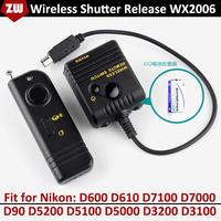 WX2006 Digital Wireless Remote Controller Shutter Release for Nikon D600 D610 D7100 D7000 D90 D5200 D5100 D5000 D3200 D3100