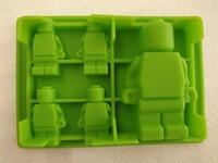 free shipping 2 SIZE Minifigure Lego Man Style Ice Cube Tray Silicone Ice Chocolate Mold 200pcs/lot