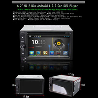 NEW Universal Android Auto Car DVD Player GPS Android 4.2.2 Dual Core 6.2 Inch Black Color Free GPS Card 2 Din Free Shipping