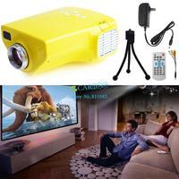 Hot!!! Portable proyector mini projector led video full hd 1080p&Home Education USB/VGA/AV/TV/HDMI Remote Control B2 OS00043