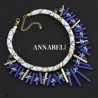 2014 New Luxury Za Brand Geometric Choker Necklace Fashion Women Rhinestone Necklaces & Pendants Statement Jewelry Wholesale
