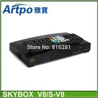 Original V8 Digital Satellite Receiver Skybox V8 Support WEBTV USB Wifi 3G Weather Forecast Youporn CCCAMD free shipping post