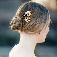 Elegent Gold Olive Leaves Hair Clip Bride Hairpin Fashion Wedding Hair Accessories  B1042