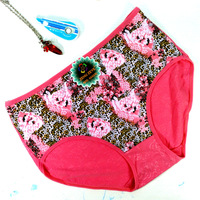 Free Shipping 2014 New Arrival plus size briefs (5 pieces/lot) High Quality 100% Cotton large fashionable push up panties