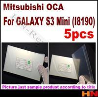 5pcs  OCA optical clear adhesive for Samsung galaxy S3 i9300 MINI i8190 double side sticker OCA glue lcd  for Mitsubishi  Mitsu