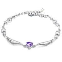 Austrian Crystal Bracelet Romantic Bracelet Silver Jewelry for Women Love Bracelets & Bangles ML-084