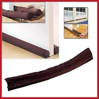 cooldeal 1  PCS x Twin Door Draft Dodger Guard Brown Stopper Energy Saving Save up to 50%